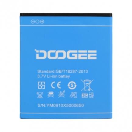 Eredeti Doogee X5 2400mAh Li-Ion akkumulátor okostelefonhoz