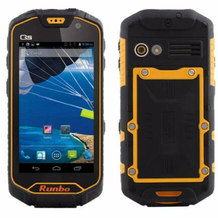 "Runbo Q5 4.5"" HD IPS Android 4.2 MTK6589T IP67 Strapabíró 3G Okostelefon - Narancs"