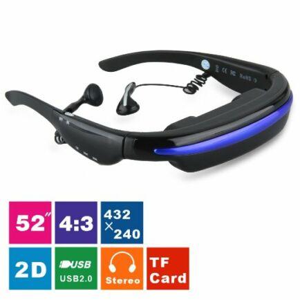 """VG280 52"""" 4:3 Virtuális HD Multimédiás 3D IPD Sztereó Videó Szemüveg"""