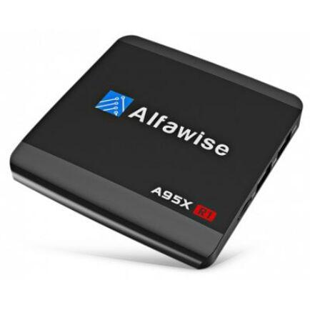 EU Raktár - Alfawise A95X R1 Android 6.0 4K TV Box (FR) - Fekete