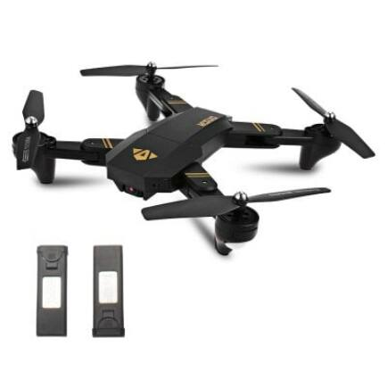 TIANQU XS809W Foldable RC Quadcopter Drón 2 akkumulátorral Magasságtartó Funkcióval (2MP Wide-Angel Kamera)