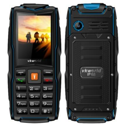 Vkworld New Stone V3 2G mobiltelefon (angol billentyűzet) - Kék