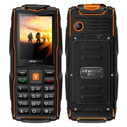 Vkworld New Stone V3 2G mobiltelefon (orosz billentyűzet) - Narancs