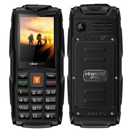 Vkworld New Stone V3 2G mobiltelefon (orosz billentyűzet) - Fekete