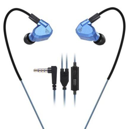 KZ ZS5 3.5mm (In-Ear) hibrid headset - Mikrofonnal, Kék