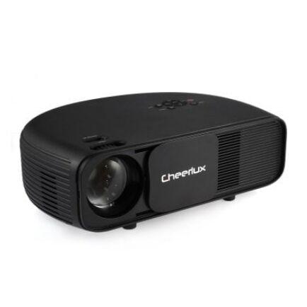 EU Raktár - Cheerlux CL760 LCD projektor (EU6) - EU csatlakozó, Fekete