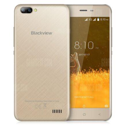 EU ECO Raktár - Blackview A7 3G okostelefon (HK2) - Arany