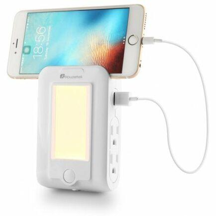 Houzetek Falra szerelhető USB töltő LED érzékelős éjszakai fény