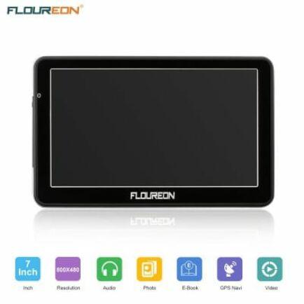 EU ECO Raktár - FLOUREON 7 Inch Kapacitív LCD Érintőkijelzővel Ellátott GPS Navigációs Rendszer Kamionosoknak és Autósoknak
