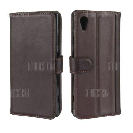 Sony Xperia XA1 Plus bőr flip védőtok (CN) - Barna