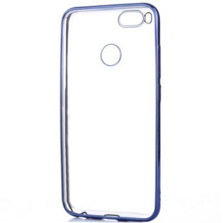 ASLING Xiaomi Mi A1 galvanizált élű védőtok - Kék