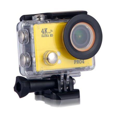 EU ECO Raktár - 20MP 4K vízálló akció kamera - Sárga