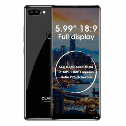 EU ECO Raktár - Oukitel MIX 2 4G okostelefon (HK) - Fekete