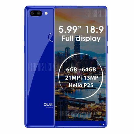 EU ECO Raktár - Oukitel MIX 2 4G okostelefon (HK2) - Kék