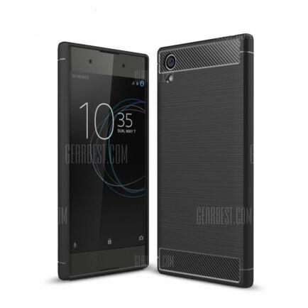 Sony Xperia XA1 Plus karbonrost védőtok (CN) - Fekete