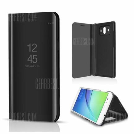 Huawei Mate 10 Pro tükör tok - fekete