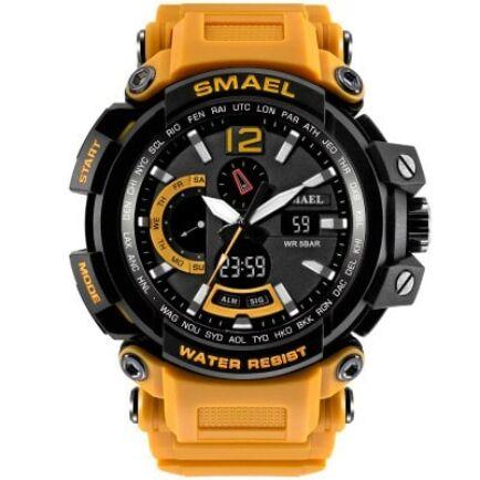 SMAEL 1702 Multifunkcionális Vízálló Elegáns LED Kvarc Sport óra Ébresztőóra funkcióval - Narancssárga