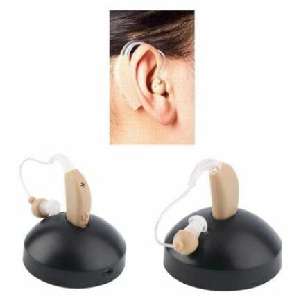 Hangerő szabályzós mini hallókészülék (CN) - Barna