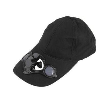 Napelemes ventilátoros sapka (CN) - Fekete