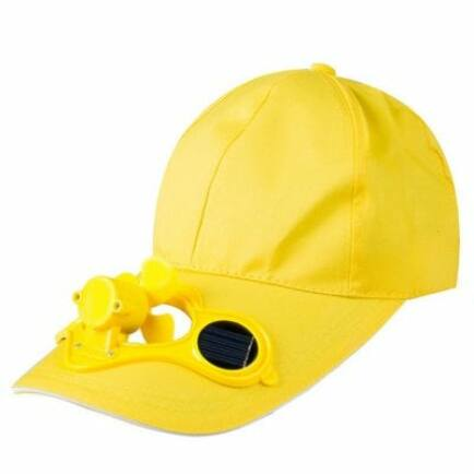 Napelemes ventilátoros sapka (CN) - Sárga