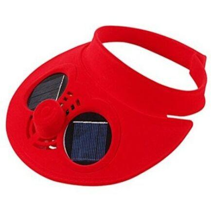 Napelemes ventilátoros szemellenző (CN) - Piros