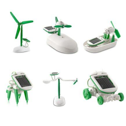 Multifunkciós napelemes DIY játék (CN) - Zöld