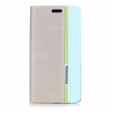 Huawei P20 Lite kevert színű védőtok kártyatartóval (HK2) - Szürke