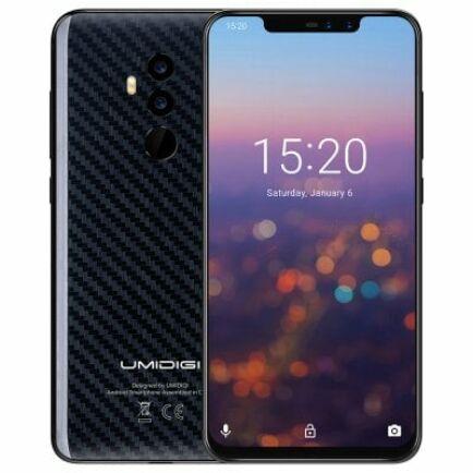 EU ECO Raktár - UMIDIGIZ2 PRO 4G okostelefon - Karbon szálas fekete