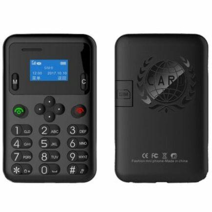 AEKU A6 2G kártya méretű telefon magyar menü - Fekete