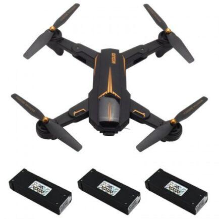 EU ECO Raktár - VISUO XS812 GPS 5G WiFi FPV w/ 2MP/5MP HD Kamera Drón - 1080P - 3 Akkumulátorral - Lámpával
