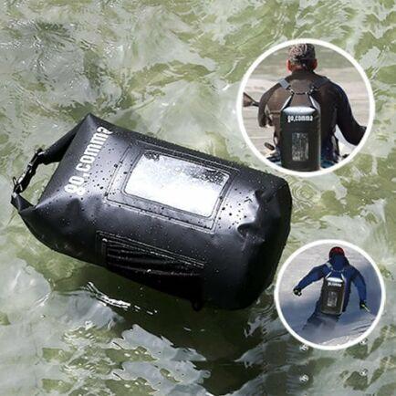 Gocomma 10L Vízálló száraz táska sportoláshoz - Fekete