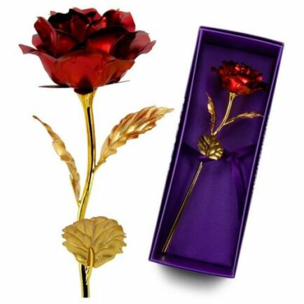 Aranyozott rózsa - Piros