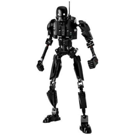 Kreatív Fekete Robot figura - Fekete