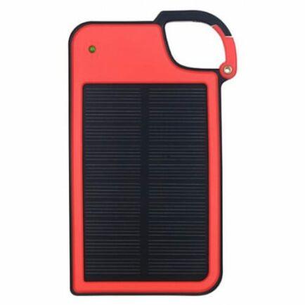 Hordozható Kulcstartó Napelemes Power Bank 4050mAh - Piros