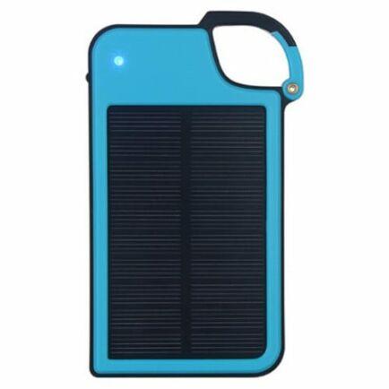 Hordozható Kulcstartó Napelemes Power Bank 4050mAh - Kék