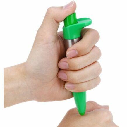 Arcápoló egészségügyi meridián akupunktúrás terápia masszázs toll - Zöld