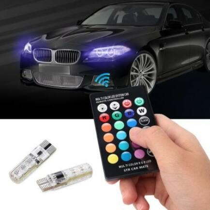 Gocomma T10 Távirányítható RGB Autós LED izzó