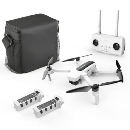 EU ECO Raktár - Hubsan H117S Zino GPS 5G WiFi 1KM FPV 4K UHD Kamerával - Fehér - 2 Akkumulátorral + Táskával