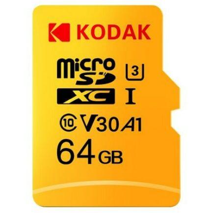 Kodak  U3 A1 V30 microSD Memória kártya 64 GB