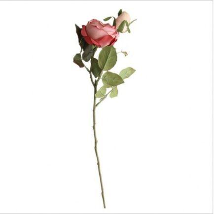 Aranyozott Rózsa Szál - Piros