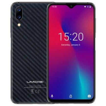 EU ECO Raktár - UMIDIGI One Max 4G okostelefon - Karbon fekete