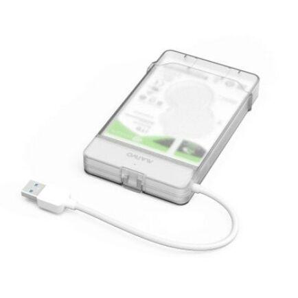 MAIWO K104 USB3.0 Külső Merevlemez HDD ház Fehér színben