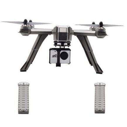 MJX Bug 3 Pro ( B3PRO ) 5G WiFi FPV RC Drón Ezüst Színben - 720P Felbontás 2db. Akkumulátorral