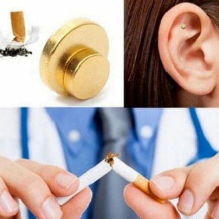 Zerosmoke Anti-Smoking dohányzásról való leszokást segítő fülmágnes - Arany