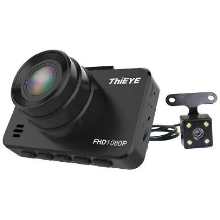 EU ECO Raktár - ThiEYE Safeel 3R 1080P + VGA Dual Autós Fedélzeti Kamera