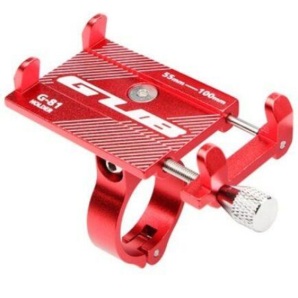 Kerékpárra és Motorkerékpárra szerelhető Mobiltelefon tartó - Piros