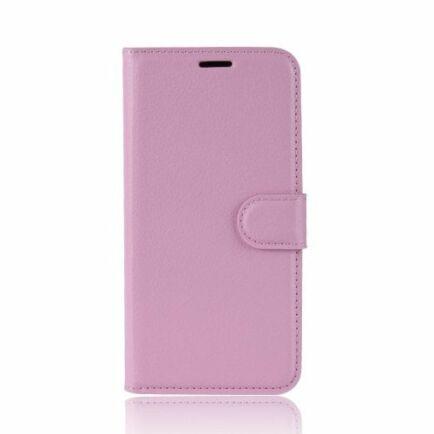 Litchi Oldalra Kihajtható FLIP Tok Elephone A5 A5 Lite Készülékre - Rózsaszín