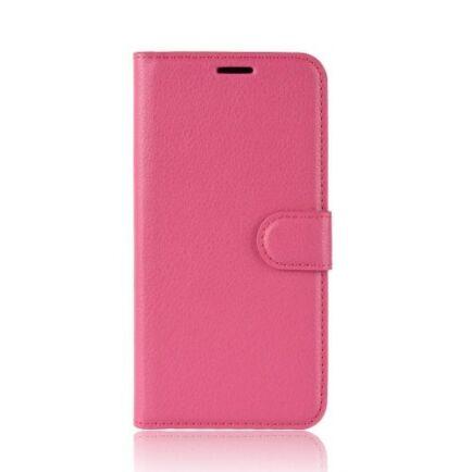 Litchi Oldalra Kihajtható FLIP Tok Elephone A5 A5 Lite Készülékre - Piros