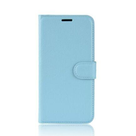 Litchi Oldalra Kihajtható FLIP Tok Elephone A5 A5 Lite Készülékre - Világoskék