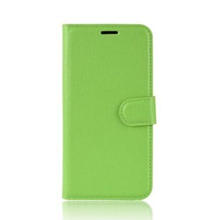 Litchi Oldalra Kihajtható FLIP Tok Elephone A5 A5 Lite Készülékre - Zöld